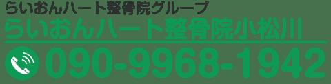 らいおんハート整骨院小松川 090-9968-1942