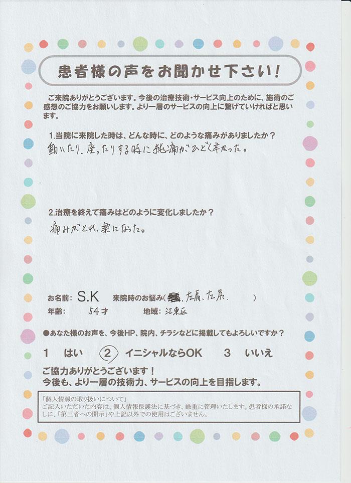 S.K様 54歳 江東区