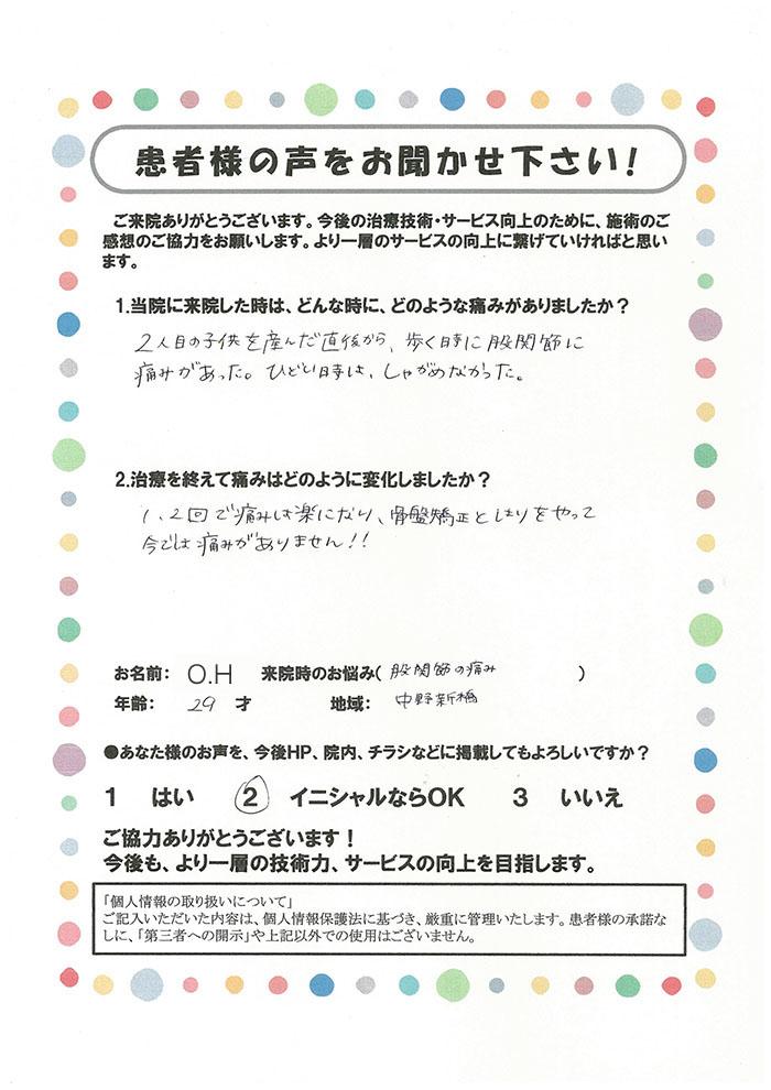 O.H様 29歳 中野新橋